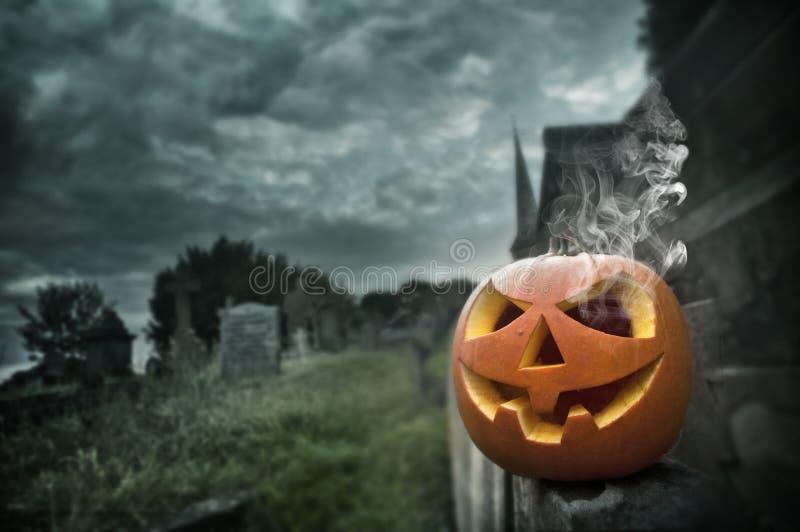 Straszna Halloweenowa Noc zdjęcie royalty free