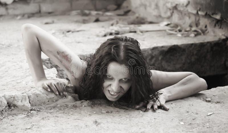 straszna kobieta zdjęcia stock