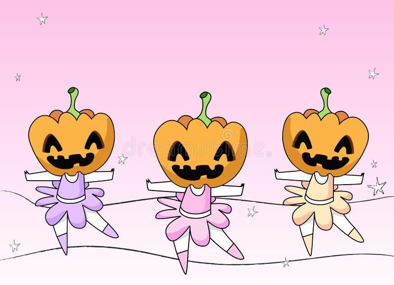 strasznej 3 baleriny royalty ilustracja
