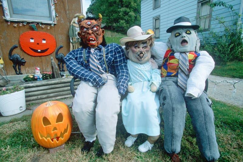 Straszni Halloweenowi charaktery, sawanna, Illinois zdjęcie stock