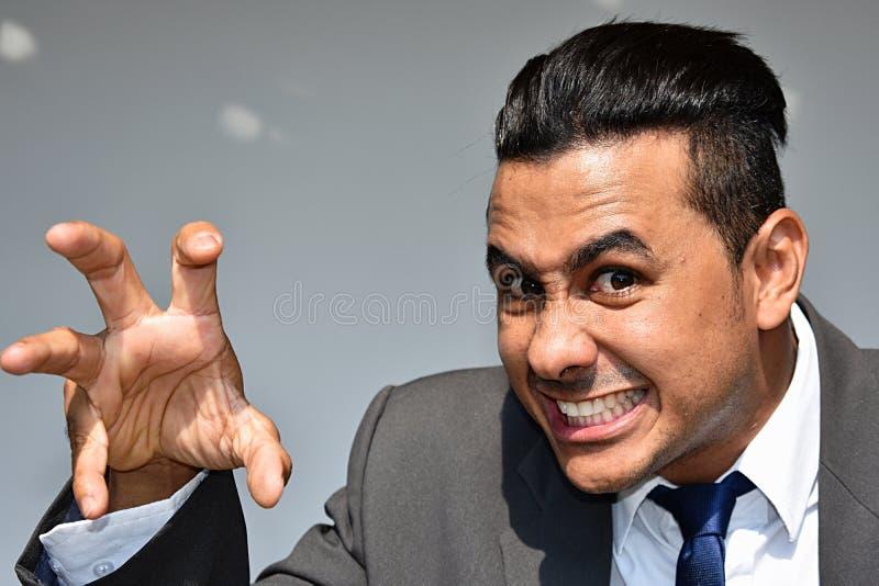 Straszny Biznesowy mężczyzna zdjęcia stock
