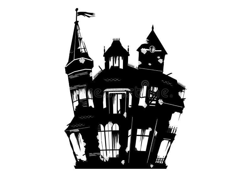 straszny dom ilustracji
