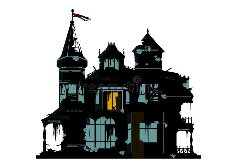 straszny dom ilustracja wektor