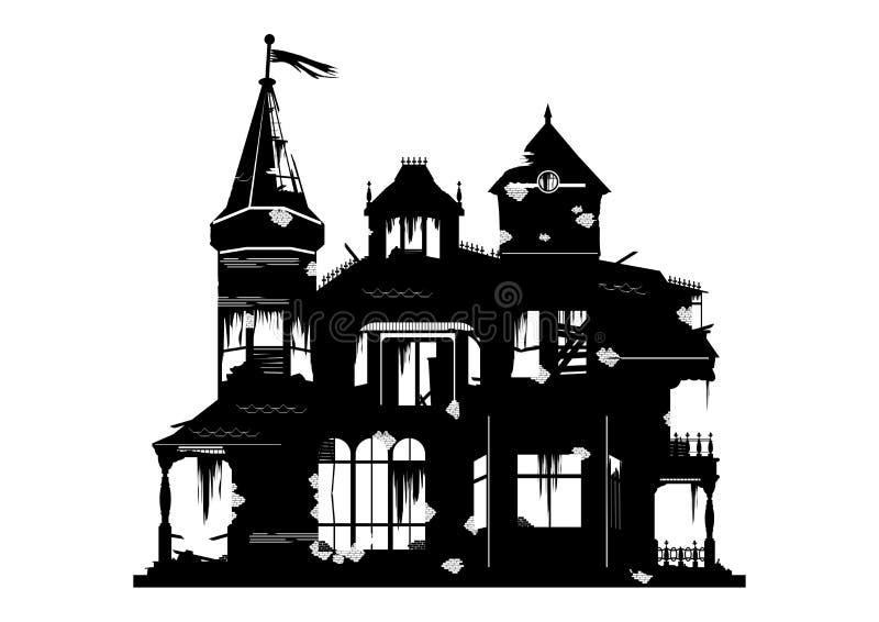 straszny dom royalty ilustracja