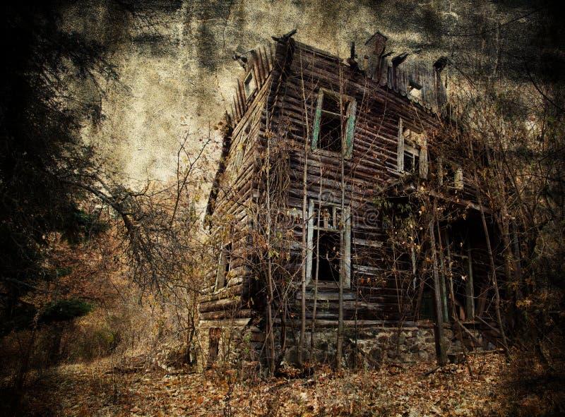 Straszny dom fotografia royalty free