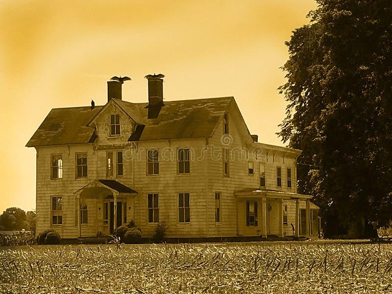 straszny dom obrazy stock