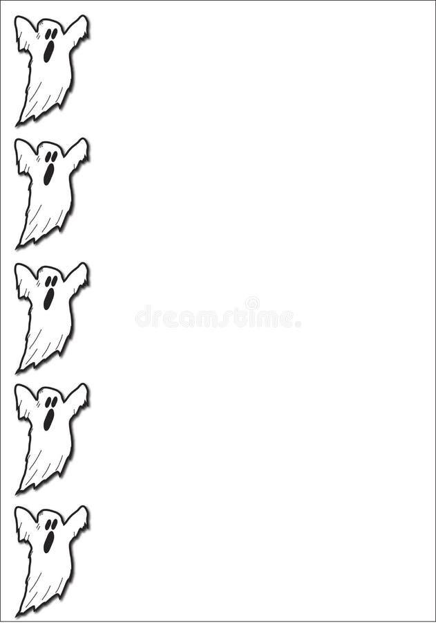 straszny duch graniczny ilustracji