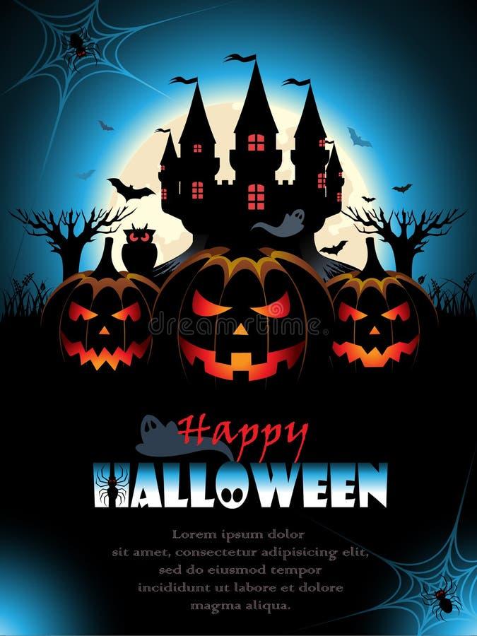 Straszny Halloweenowy tło royalty ilustracja