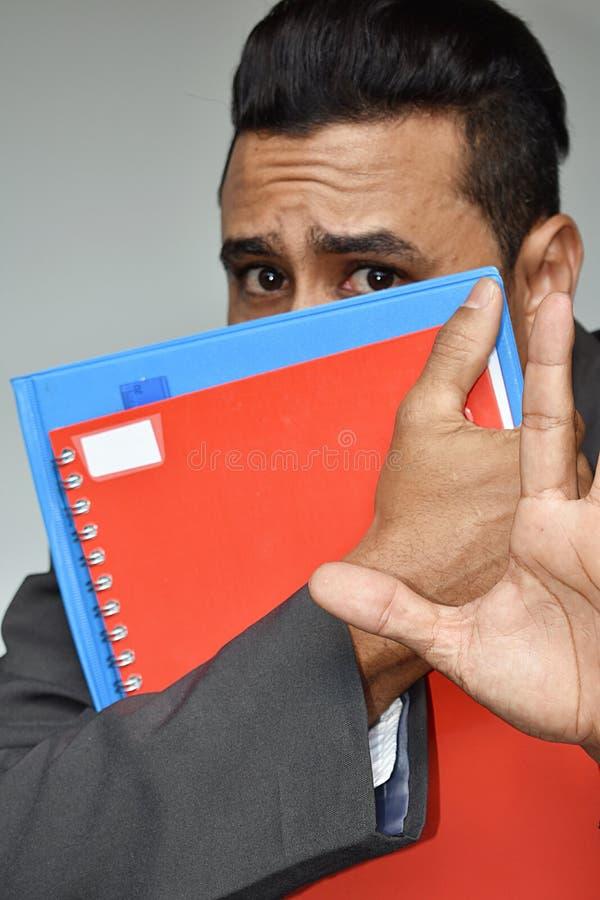 Straszny Latynoski Męski Biznesowy uczeń zdjęcia stock