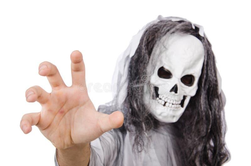 Straszny mężczyzna w Halloween zdjęcie royalty free