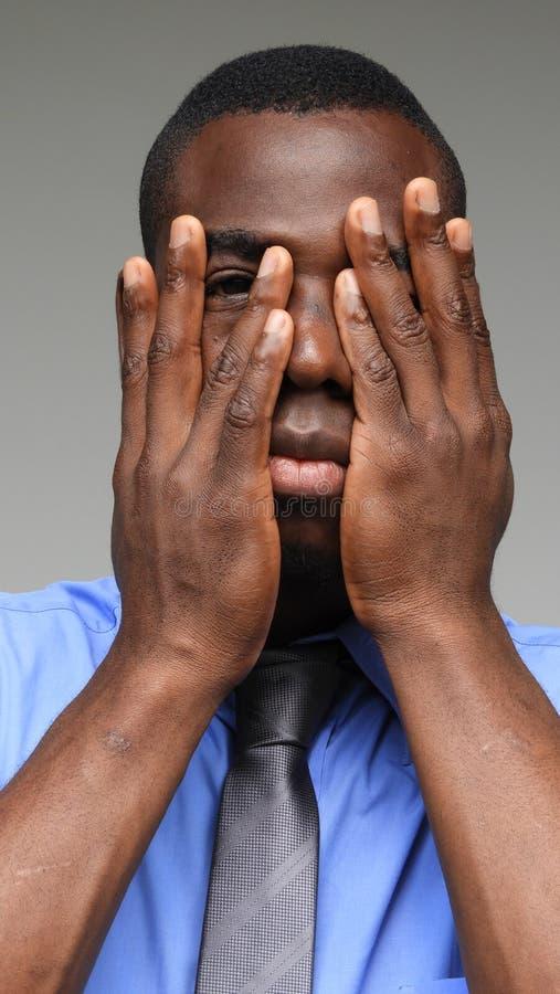Straszny Mniejszościowy Biznesowy mężczyzna zdjęcia royalty free