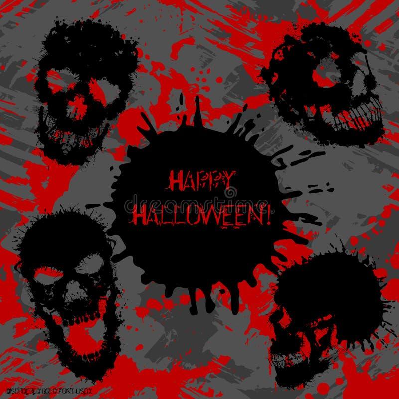 Straszny zaproszenie dla Halloween przyjęcia ilustracja wektor