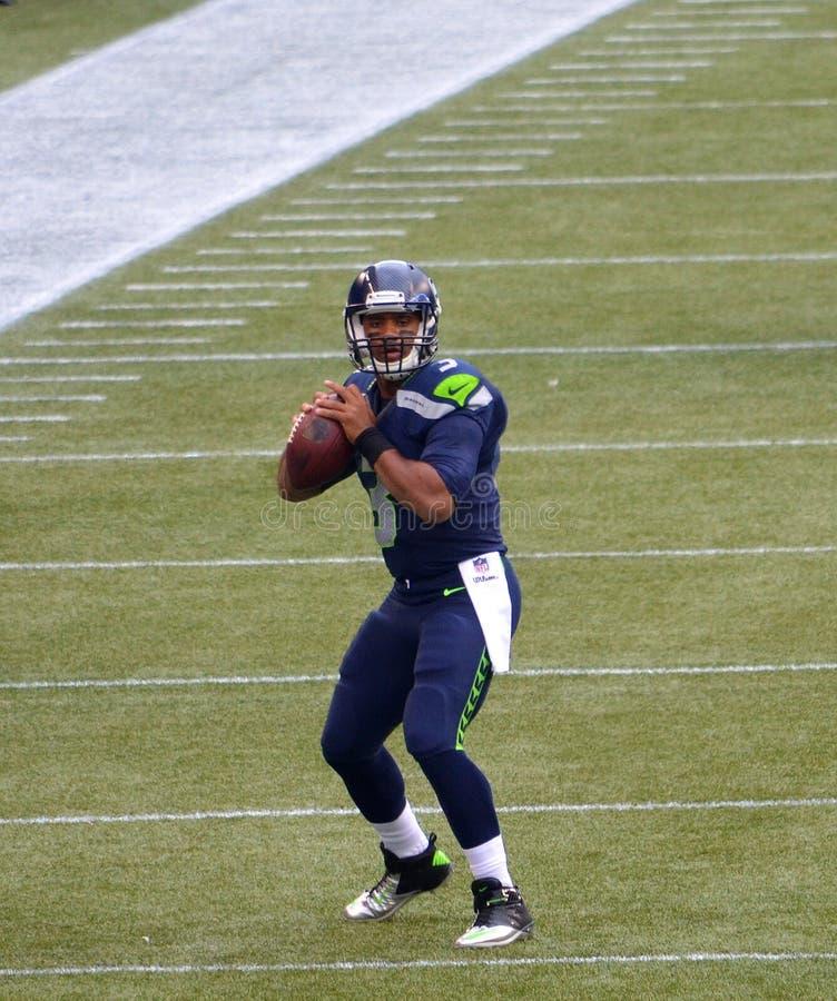 Stratège Russel Wilson de Seattle Seahawks photo libre de droits