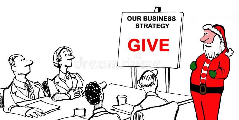 Stratégie commerciale de Santa illustration de vecteur