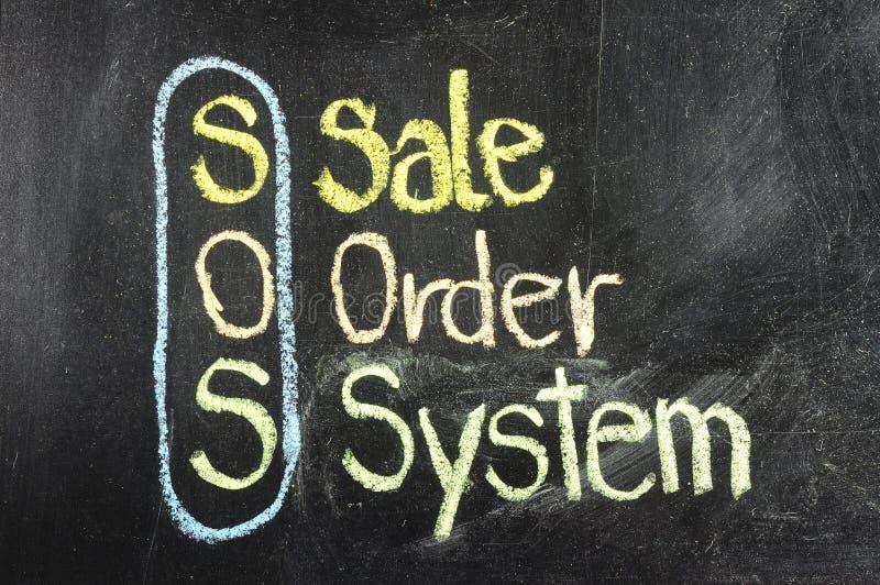 Stratégie commerciale SOS photo stock