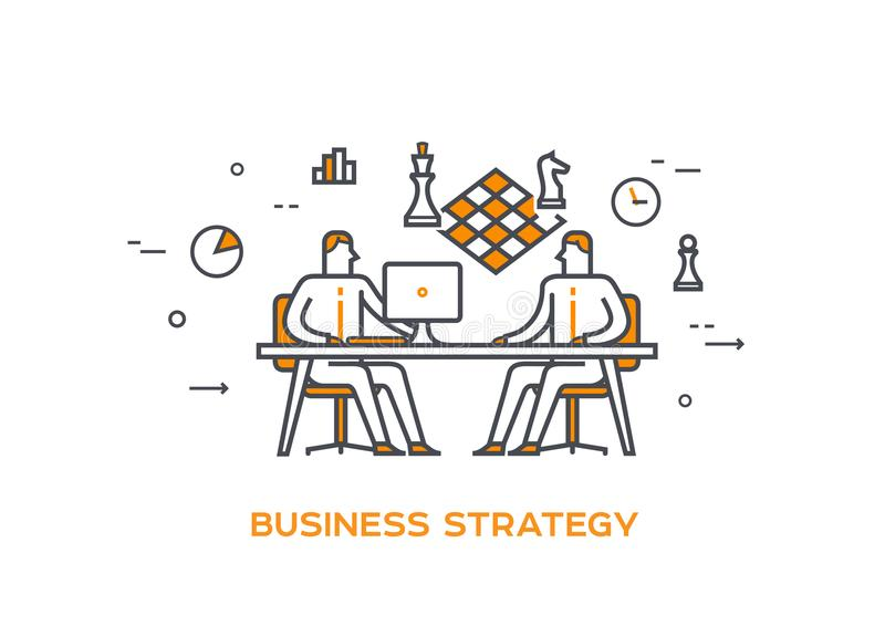 Stratégie d'équipe des affaires 0b d'illustration d'icône illustration libre de droits