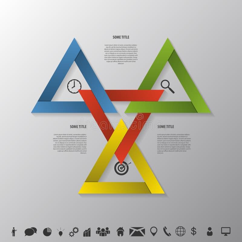 Stratégie d'Infographic dans la triangle Affaires réussies Vecteur illustration stock