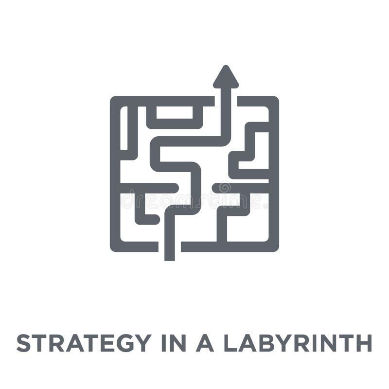 Stratégie dans une icône de labyrinthe de collection de la stratégie 50 illustration libre de droits
