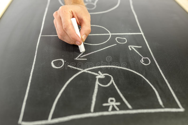 Stratégie de basket-ball de dessin image libre de droits