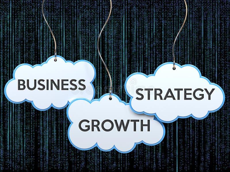 Stratégie de croissance d'affaires sur la bannière de nuage illustration de vecteur