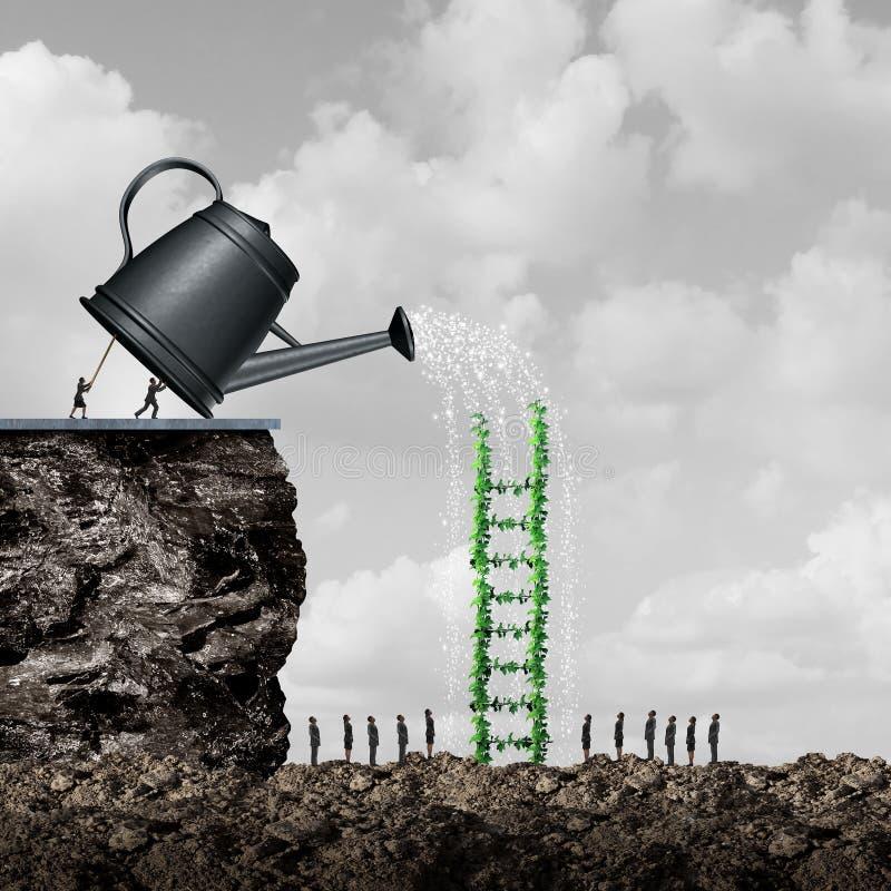 Stratégie de croissance et de succès illustration de vecteur