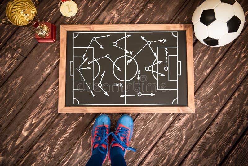 Stratégie de jeu de football photographie stock