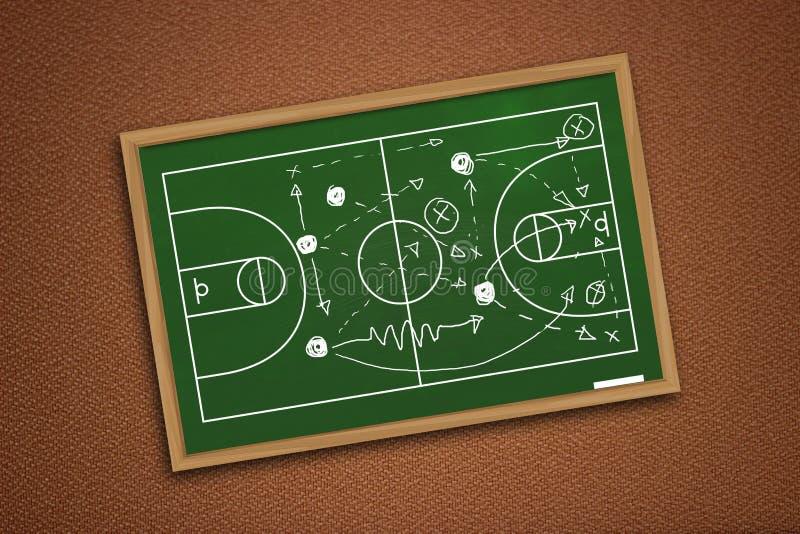 Stratégie de match de basket photographie stock
