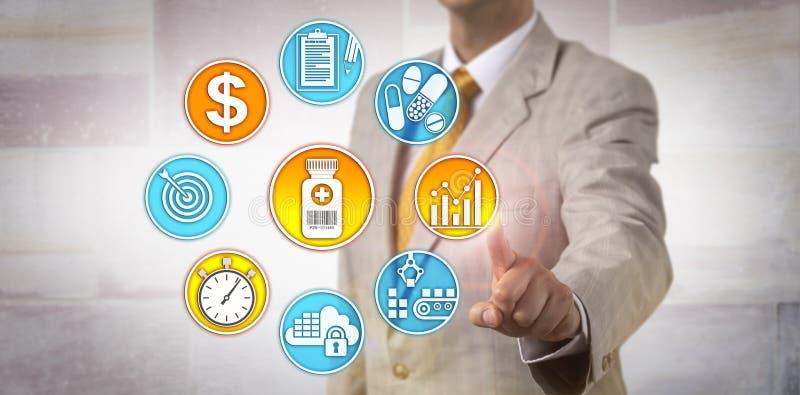 Stratégie de Setting Drug Pricing de fabricant image stock