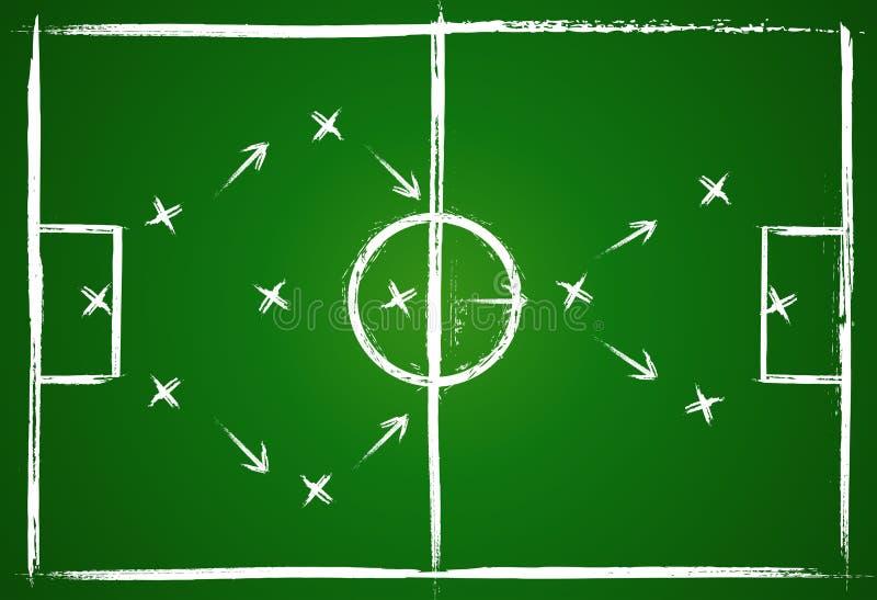 Stratégie de travail d'équipe du football illustration libre de droits
