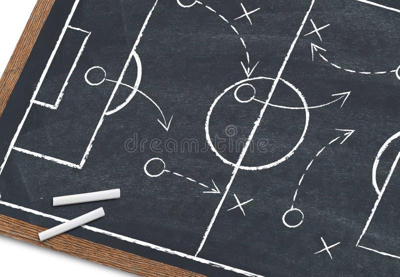 Stratégie du football photo libre de droits