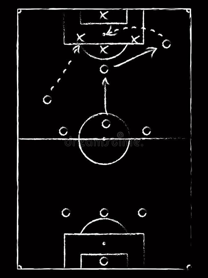 Stratégie du football sur le tableau illustration de vecteur