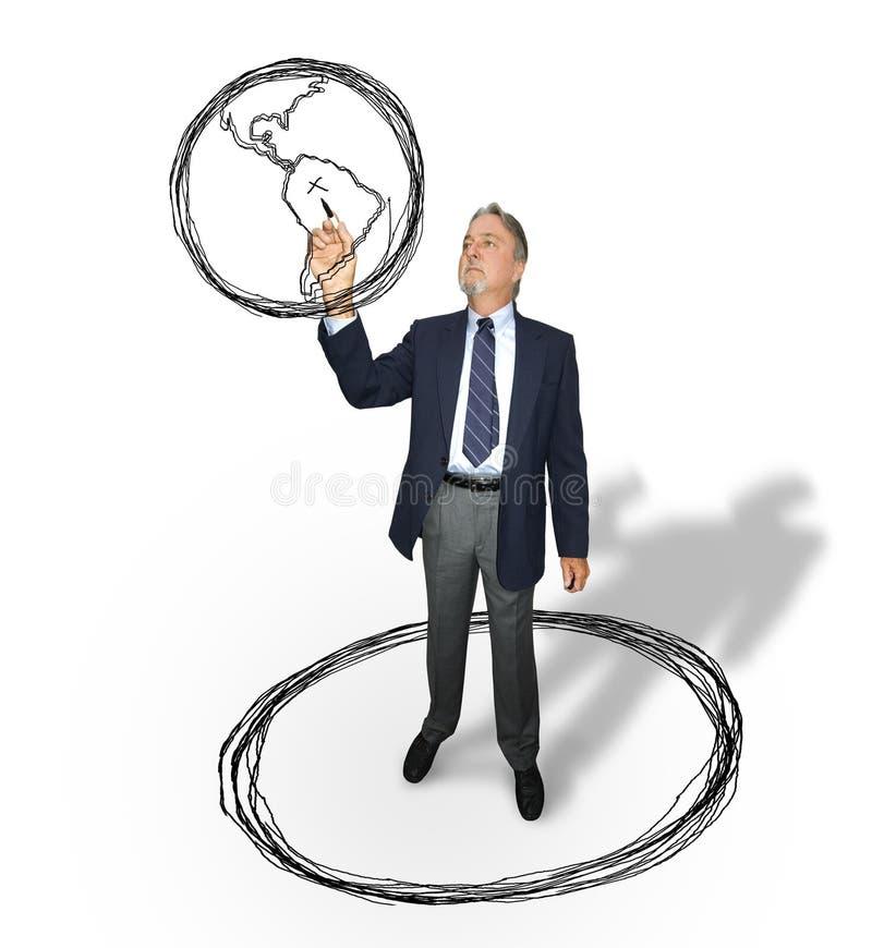 Stratégie globale d'affaires photos libres de droits