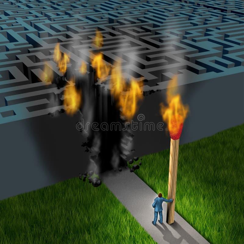 Stratégie innovatrice illustration de vecteur