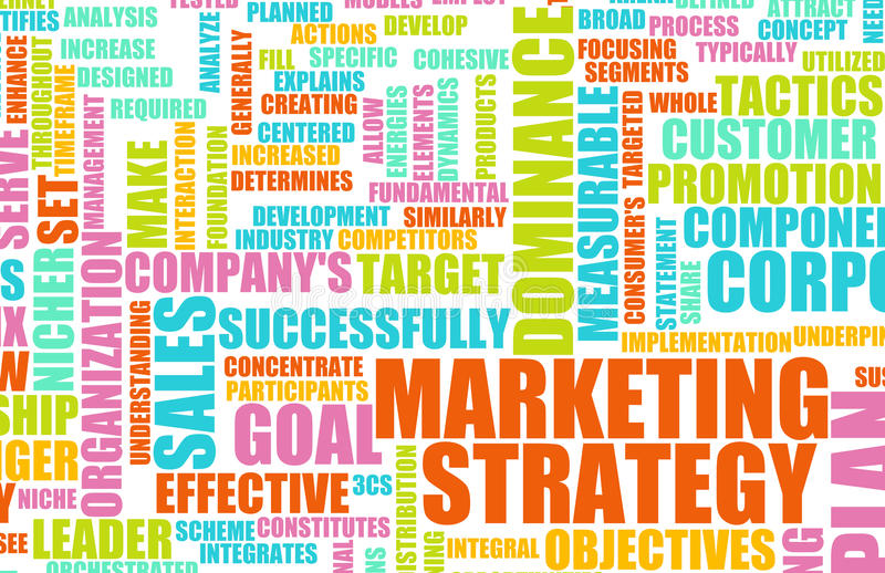 Stratégie marketing illustration de vecteur