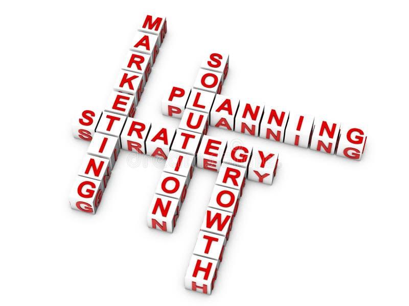 Stratégie marketing illustration stock