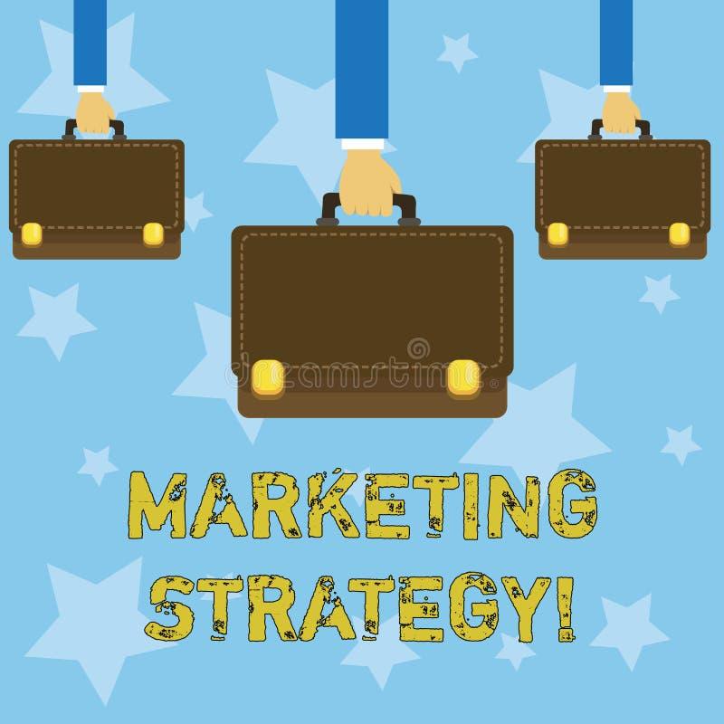 Stratégie marketing d'écriture des textes d'écriture Organisation pour la recherche de créativité de formule de plan de significa illustration libre de droits