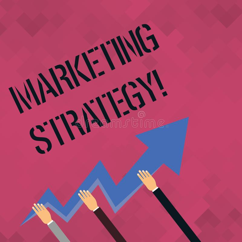 Stratégie marketing des textes d'écriture de Word Concept d'affaires pour l'organisation pour la recherche de créativité de formu illustration de vecteur