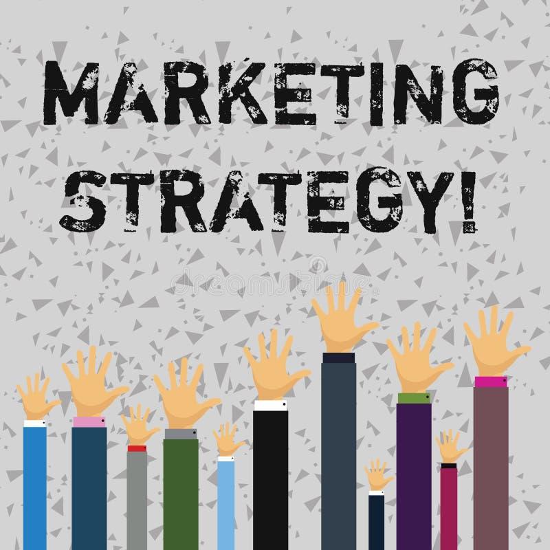 Stratégie marketing des textes d'écriture de Word Concept d'affaires pour l'organisation pour la recherche de créativité de formu illustration stock