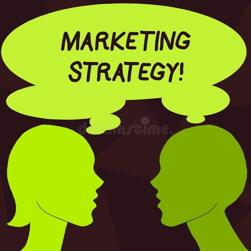 Stratégie marketing des textes d'écriture Organisation pour la recherche de créativité de formule de plan de signification de con illustration stock