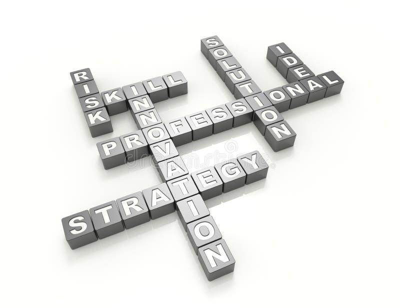 Stratégie-mots croisé-concept illustration de vecteur