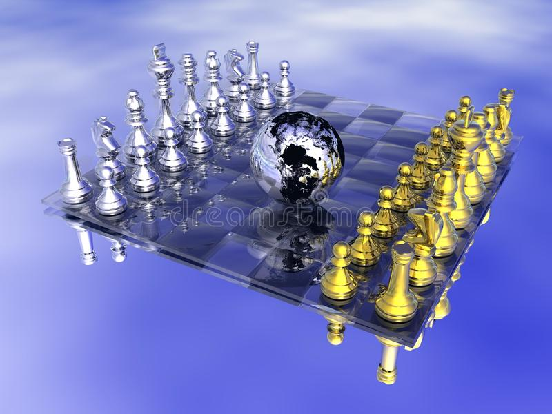 Stratégie sur terre illustration de vecteur