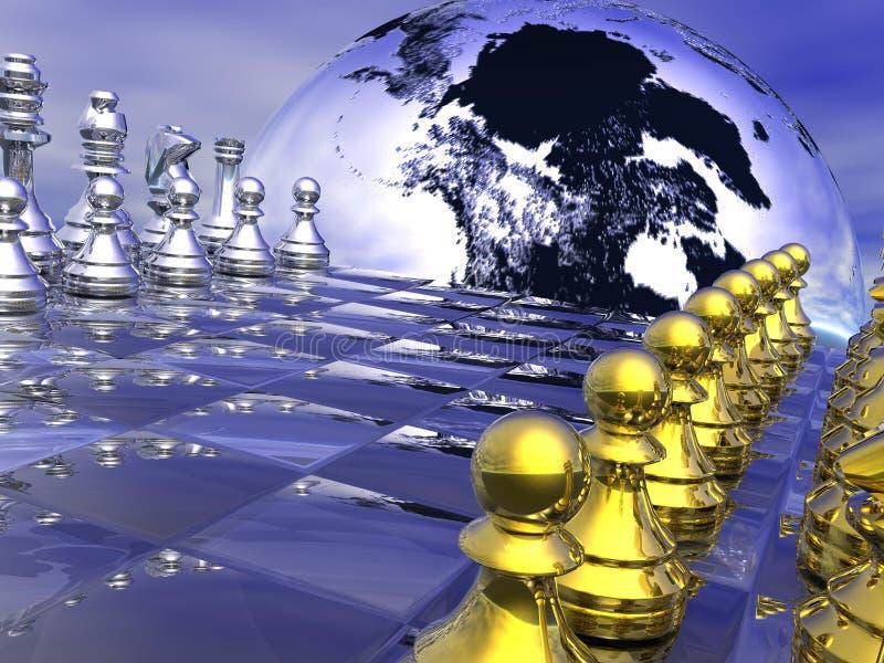 Stratégie sur terre illustration libre de droits