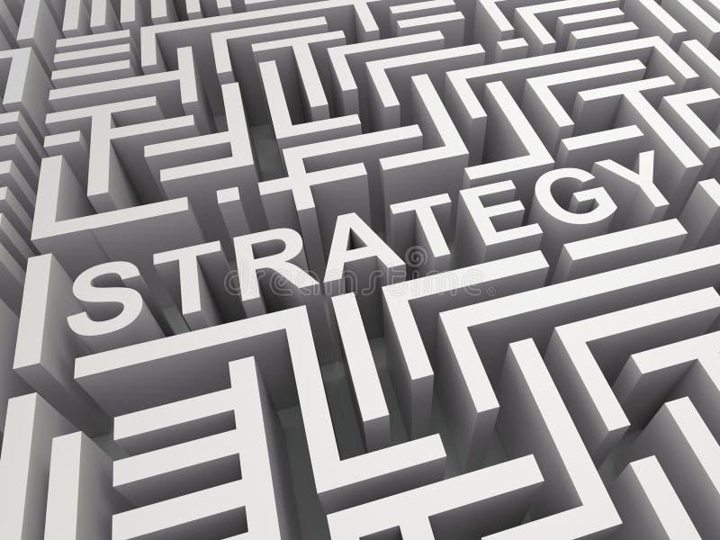 Stratégie Word en Maze Shows Game Plan illustration stock