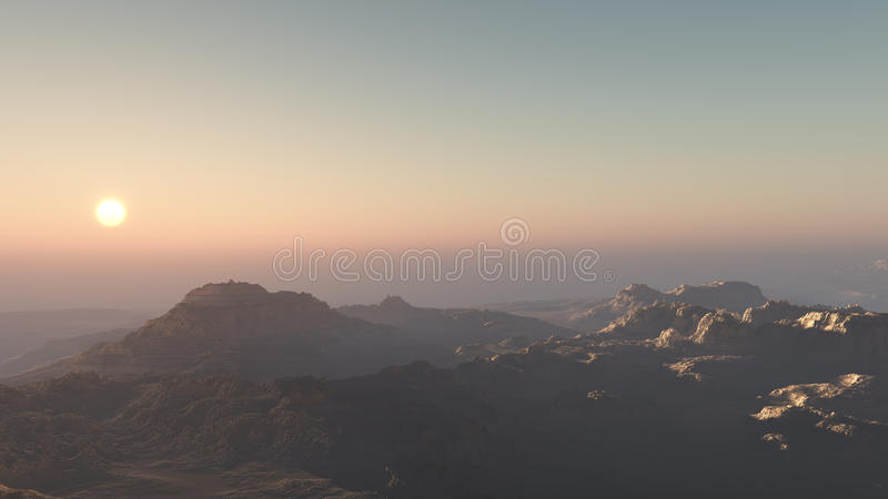 Strata Landscape Sunset stock photos