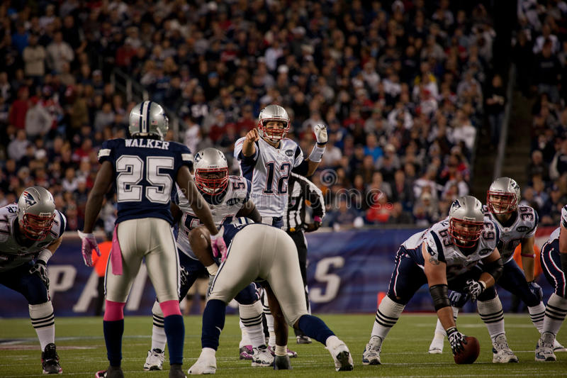Strateeg Tom Brady royalty-vrije stock afbeelding