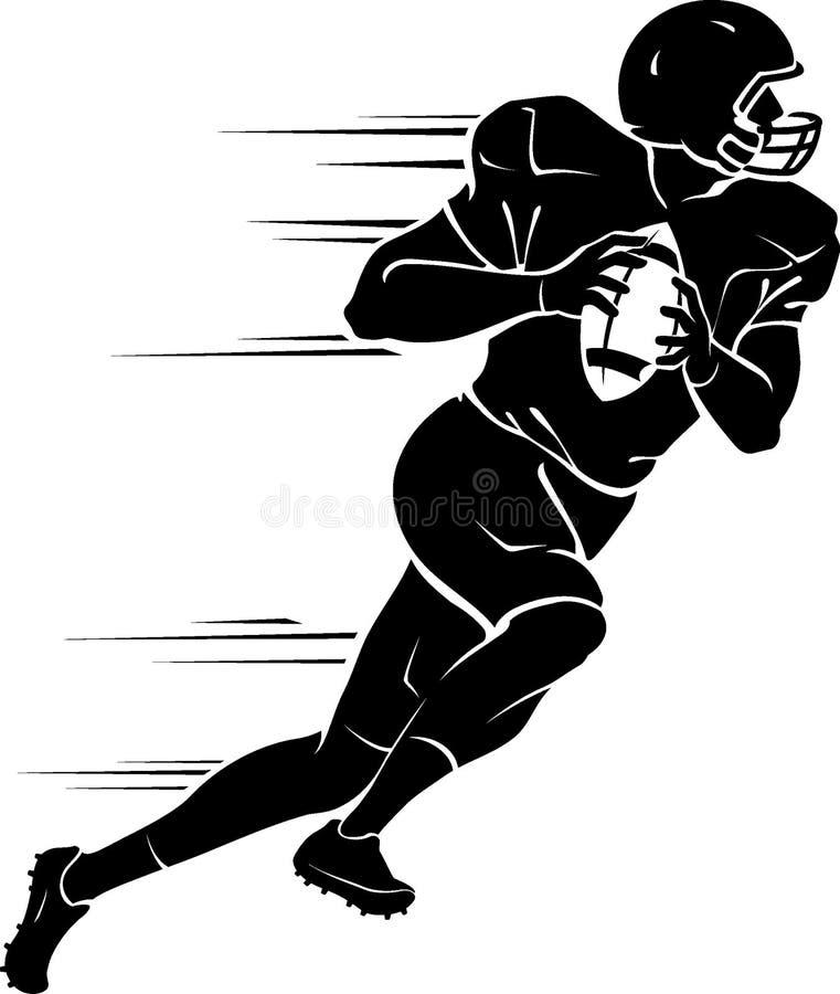 Strateegvoetbalster in een Stormloop vector illustratie