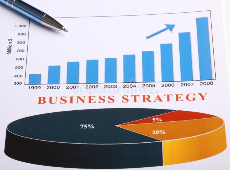 strategi för affärsdiagram arkivbilder