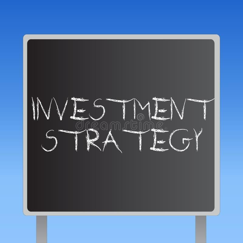 Strategi för handskrifttextinvestering Menande uppsättning för begrepp av regeltillvägagångssättuppförande en handbok till en akt stock illustrationer