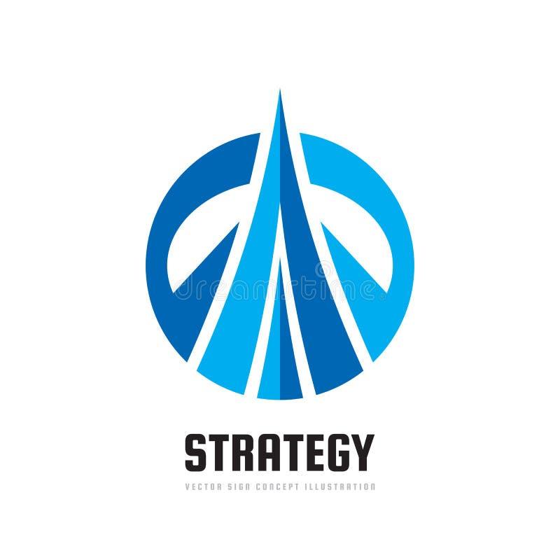 Strategi - illustration för begrepp för vektoraffärslogo Positivt geometriskt tecken Abstrakt geometriskt idérikt symbol utveckli vektor illustrationer