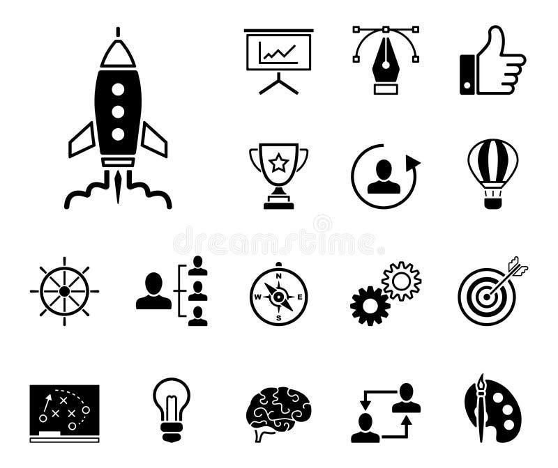 Strategi & kreativitet - Iconset - symboler vektor illustrationer